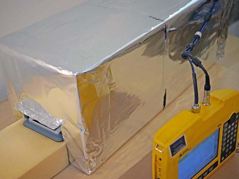 Narda SRM-3006 eFLEKTOR test setup